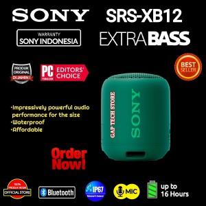 Harga sony srs xb12 srs xb 12 waterproof bluetooth speaker with extra bass   | HARGALOKA.COM
