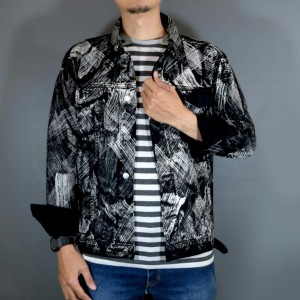 Harga jaket jeans leevash pria kuas motif terkini     HARGALOKA.COM