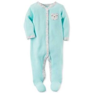 Harga baju anak bayi sleepsuit branded carter 39 s blue flowers 6   HARGALOKA.COM