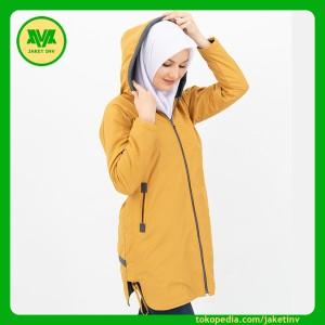 Harga jaket wanita model panjang mantel coat parasut waterpoof hitzel 01   kuning | HARGALOKA.COM