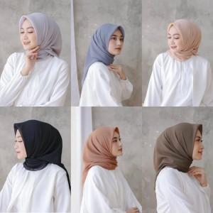 Harga hijab bella square murah premium quality hijab segiempat jilbab   | HARGALOKA.COM