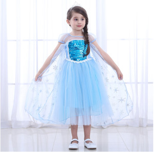 Harga kostum frozen elsa mirror with cape import baju frozen jubah   biru muda | HARGALOKA.COM