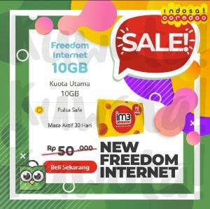 Harga 10gb perdana paket data internet indosat new freedom internet 10 | HARGALOKA.COM