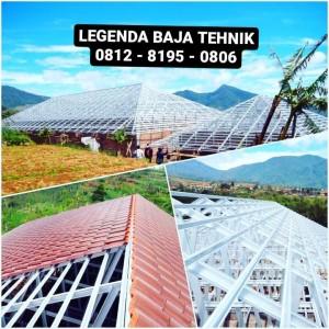 Harga rangka baja ringan sni peganti atap kayu renovasi | HARGALOKA.COM
