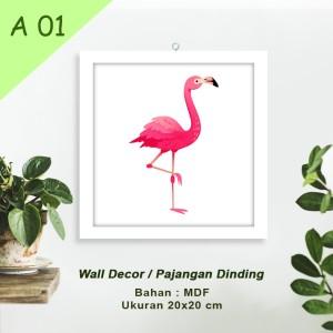 Harga hiasan dinding mdf home dekor uk 20x20 motif hewan   | HARGALOKA.COM