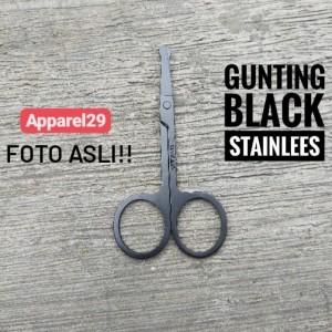 Harga gunting stainless mini gunting kumis bulu hidung benang rambut     HARGALOKA.COM
