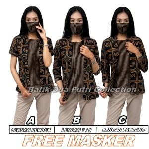 Harga batik wanita atasan blouse 3 model lengan s m l xl xl xxl 3l 4l 5l   varian a | HARGALOKA.COM
