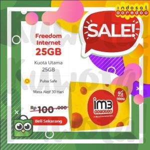 Harga 25gb perdana paket data internet indosat new freedom internet 25 | HARGALOKA.COM