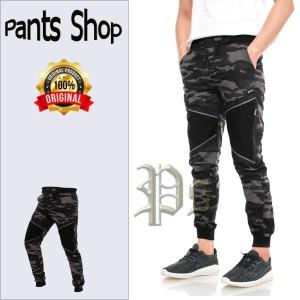 Harga celana joger pria loreng camo celana jogger army terbaru   coklat polet | HARGALOKA.COM