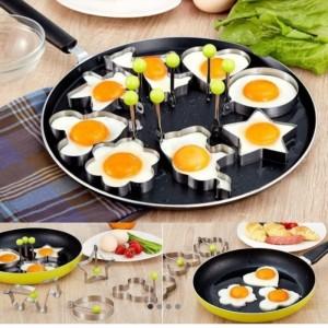 Harga alat cetakan telur diy stainless steel motif unik   | HARGALOKA.COM