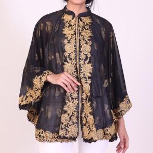 Harga atasan pesta muslimah wanita jumbo big size   hitam | HARGALOKA.COM