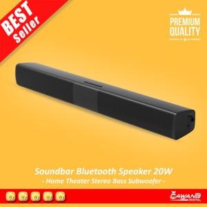 Harga soundbar bluetooth speaker home theater stereo bass subwoofer | HARGALOKA.COM