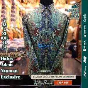Harga baju kemeja batik pria motif tulis seperti atbm sutra pesta br29   | HARGALOKA.COM