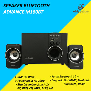 Harga speaker aktif advance m180bt bluetooth speaker pc speaker | HARGALOKA.COM