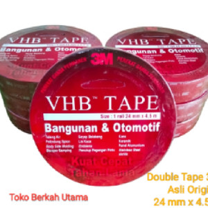 Harga double tape 3m vhb 24 mm x 4 5 meter asli | HARGALOKA.COM
