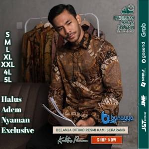 Harga baju kemeja batik pria motif tulis seperti atbm sutra pesta br24   | HARGALOKA.COM