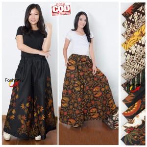 Harga kulot batik pekalongan modern jumbo model payung bahan | HARGALOKA.COM