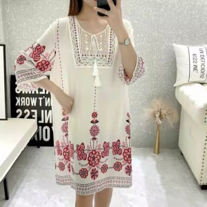 Harga baju wanita sc dress loose dress bordir baju terusan | HARGALOKA.COM