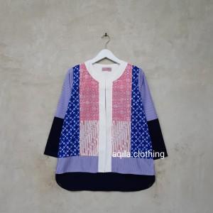 Harga cardigan batik lucu dan unik a0296 biru   HARGALOKA.COM