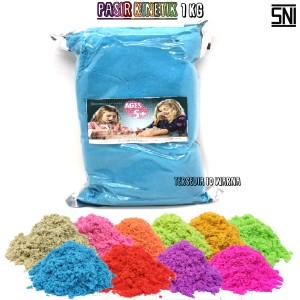 Harga mainan pasir kinetik refill 1 kg mainan edukasi anak pasir ajaib   | HARGALOKA.COM