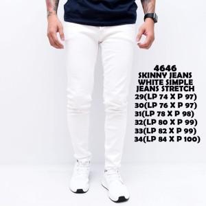 Harga celana jeans pria slim fit   white simple   putih | HARGALOKA.COM