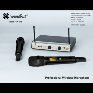 Harga mic wireless soundbest ck 213 uhf original garansi 2   HARGALOKA.COM