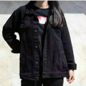 Harga jaket jeans denim wanita dewasa hitam murah berkualitas   hitam | HARGALOKA.COM