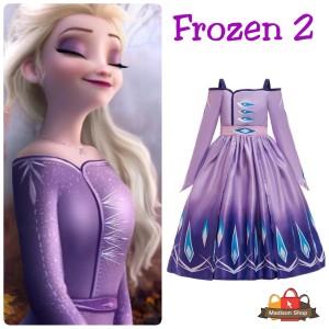 Harga kostum elsa ungu frozen 2 movie baju pesta anak dress elsa purple   | HARGALOKA.COM