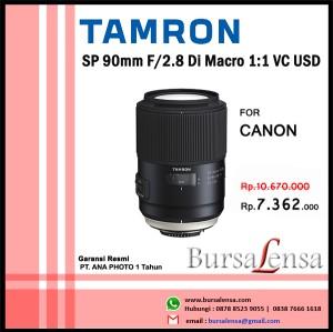 Harga tamron sp 90mm f 2 8 di macro 1 1 vc usd for canon   garansi ana   HARGALOKA.COM