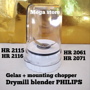 Harga gelas bumbu mounting drymill full set blender philips hr2115 | HARGALOKA.COM
