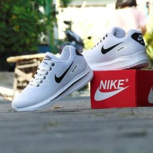 Harga sepatu nike airmax zoom grade ori full white putih sport casual pria   putih   HARGALOKA.COM