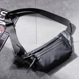 Harga waistbag pria waterproof import slingbag tas pinggang premium   dark | HARGALOKA.COM