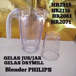 Harga gelas jus jar gelas drymill bumbu blender philips hr2115 hr2116 | HARGALOKA.COM