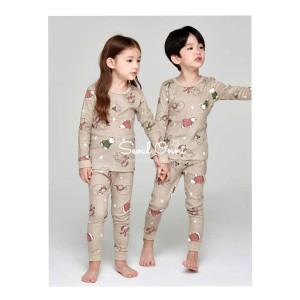 Harga seoul onni korea baju tidur anak bayi piyama setelan   winter bear     HARGALOKA.COM