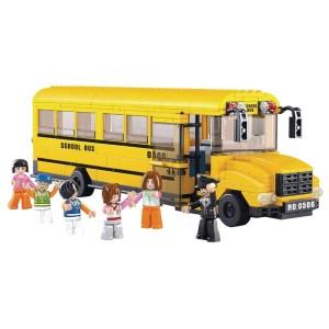 Harga mainan edukasi bricks sluban m38 b0506 school bus | HARGALOKA.COM