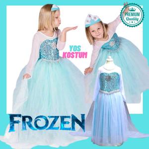 Harga kostum princess anak elsa frozen gaun dress baju perempuan import   | HARGALOKA.COM