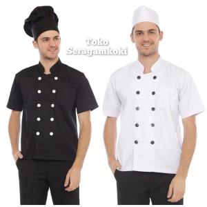 Harga baju koki chef uniform berkualitas harga murah   biru | HARGALOKA.COM