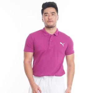 Harga polo shirt baju kerah pria wanita baju olahraga pu01 ungu violet   | HARGALOKA.COM
