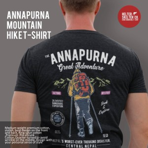 Harga kaos gunung annapurna mountain nepal distro   | HARGALOKA.COM