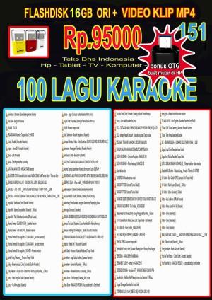Harga 151 vgen flashdisk 16gb ori isi 100 video karaoke teks bhs | HARGALOKA.COM