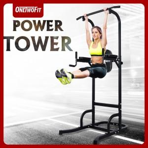 Harga onetwofit power tower pull up alat olahraga | HARGALOKA.COM
