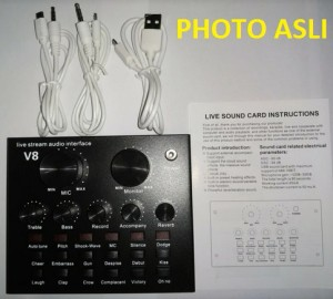 Harga sound card v8 mixer external soundcard v8 usb audio live broadcast | HARGALOKA.COM