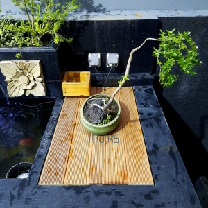 Harga lantai kayu bengkirai tutup chamber kolam ikan pinggiran teras | HARGALOKA.COM