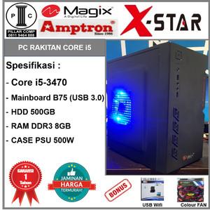 Harga komputer rakitan i5 3470 ddr3 8gb hd 500gb b75 psu 500w b01 | HARGALOKA.COM
