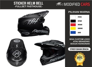Harga cutting stiker helm cross bell fasthouse 1 set helm simpson helm | HARGALOKA.COM