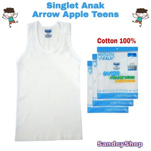 Harga kaos dalam singlet anak laki arrow apple teens bm s01 putih isi 1   10 11 | HARGALOKA.COM