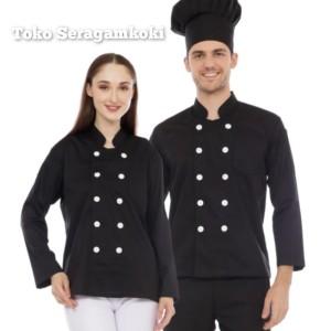 Harga baju chef seragam chef lengan panjang harga murah kualitas prima   biru | HARGALOKA.COM