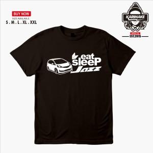 Harga kaos baju mobil honda jazz eat sleep jazz kaos otomotif   | HARGALOKA.COM
