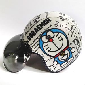 Harga helm retro bogo kulit motif doraemon   HARGALOKA.COM