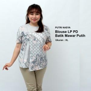 Harga atasan batik wanita blouse jumbo baju big size model seragam batik   | HARGALOKA.COM